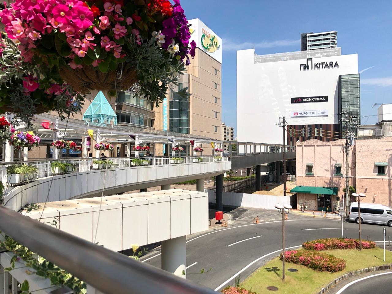 豊田市駅とKiTARAを繋ぐペデストリアンデッキ