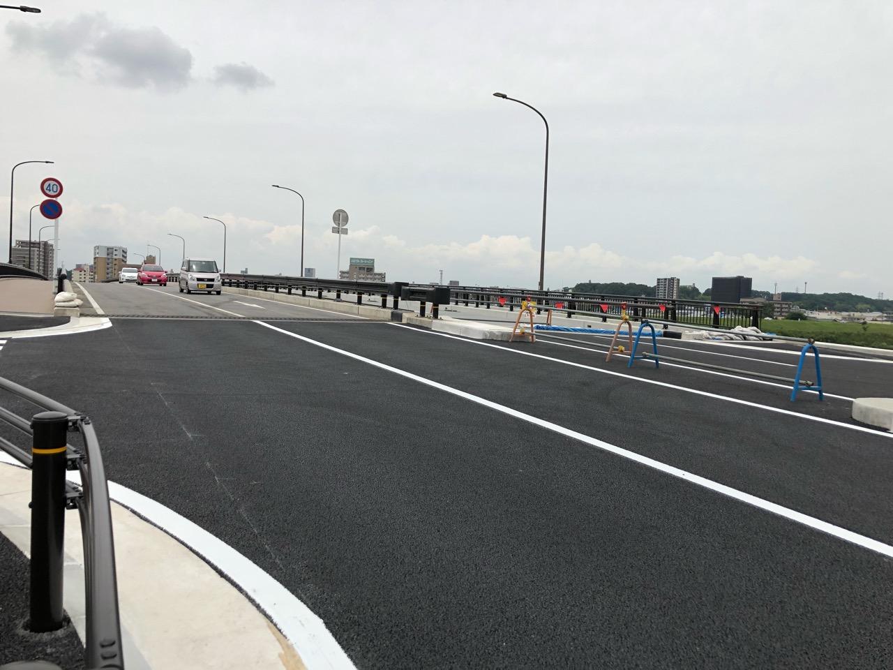 2019年6月4日に車道通行止めが解除された高橋