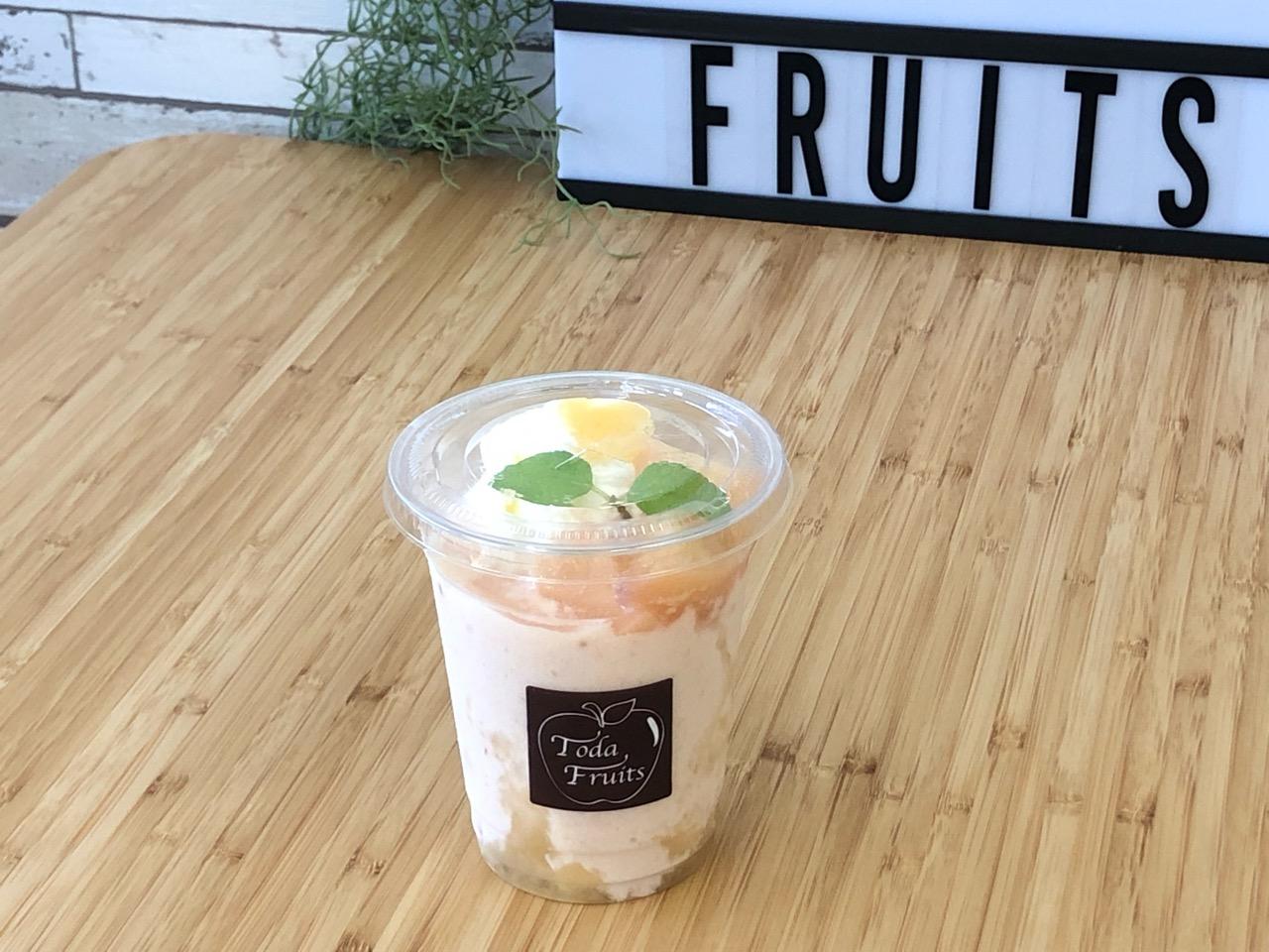 戸田フルーツの桃スムージー