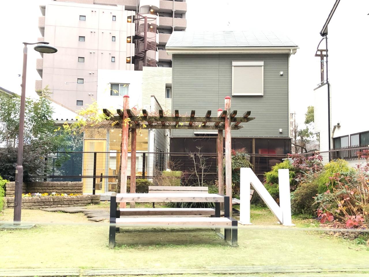cafethinku裏の公園