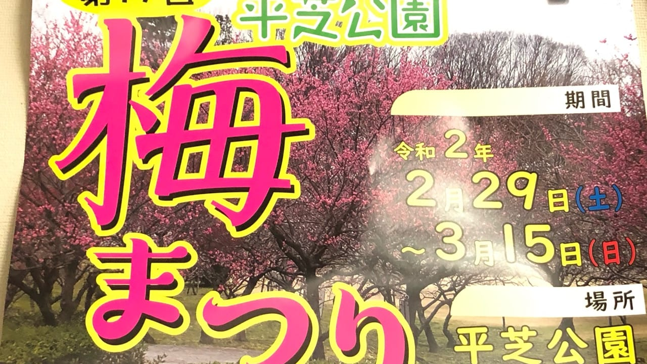 令和2年平芝公園の梅祭り