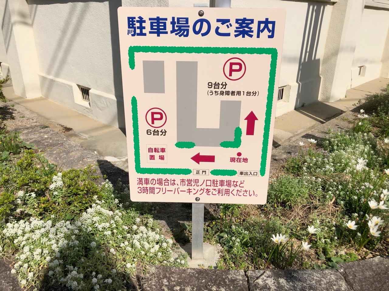 近代の産業とくらし発見館駐車場